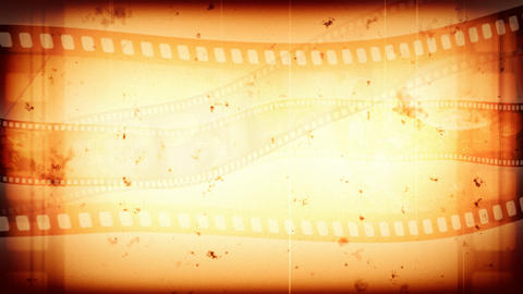 Background animation of a vintage reel clip, loopable Animation