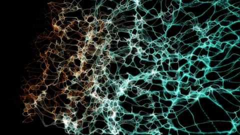 3d rendering background with twisted particle strings and… Stock Video Footage