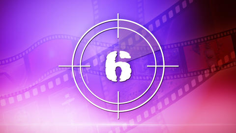 Countdown with film reel Animation