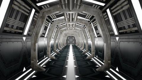 Corridor with opening door and alpha matte Animation