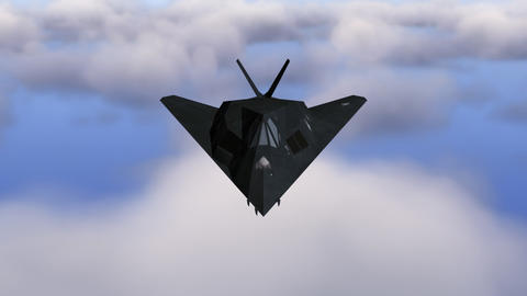 Stealth F-117 Nighthawk including alpha matte Animation