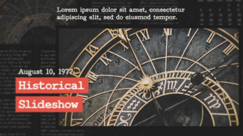 Historical Slideshow After Effects Template