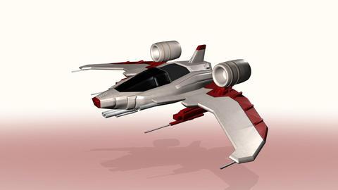 Futuristic spaceship seamless loop Animation