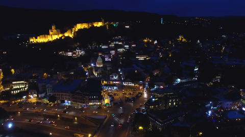 Fascinating illuminated city center, bright streets, high energy consumption Live Action