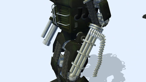 Army of walking robots Animation