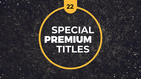 22 Special Premium Titles After Effectsテンプレート