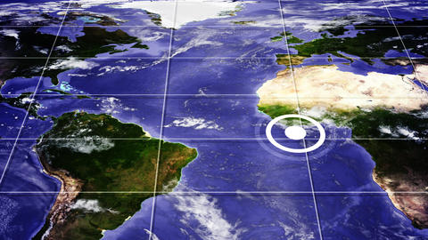 Hotspots world map Animation