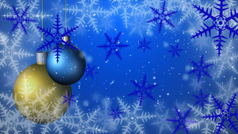 Christmas background seamless loop blue Animation