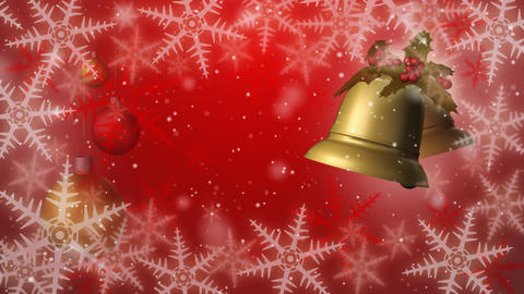 Christmas bells seamless loop red Animation