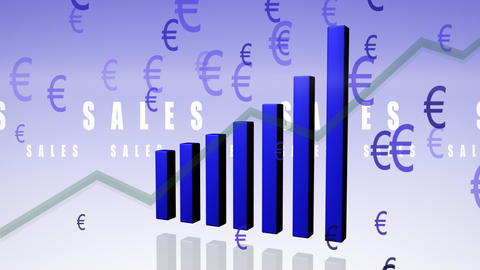Bar chart euro Animation