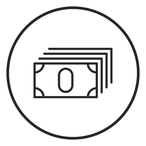 Money stroke icon, logo illustration. Stroke high quality symbol Fotografía