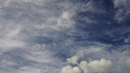Clouds including cirrostratus passing, time lapse Footage