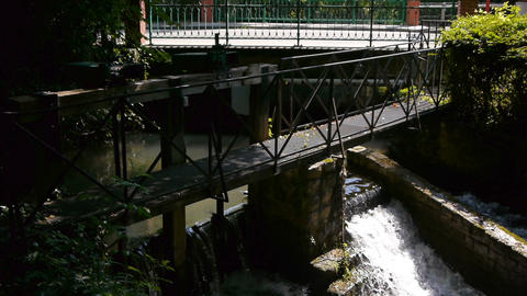 River Calonne in Cormeilles. Charming village in Normandy, France Footage