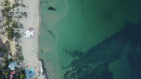 Aerial view of sea beach ビデオ