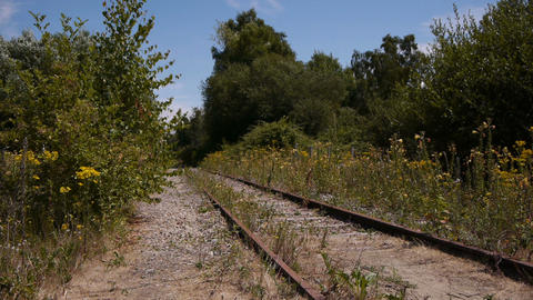 Abandoned railway, Normandy France Footage