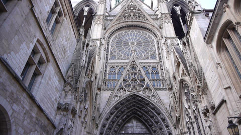 Cathedral alley exterior in Rouen, Normandy France, PAN Live Action