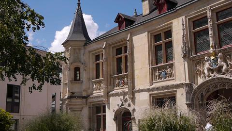 ROUEN, FRANCE, AUGUST 10, 2018: Historic Rouen. Normandy France Live Action