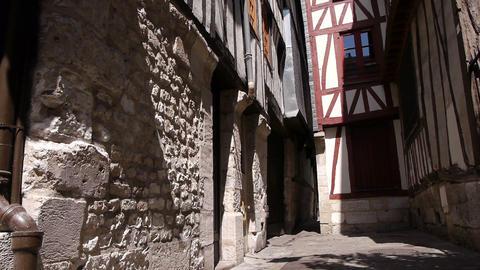 Alley in Rouen, Normandy France, TILT Footage