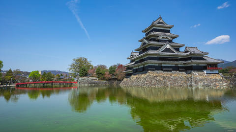Timelapse of Matsumoto Castle the famous place in Nagano, Japan time lapse 4K Live Action