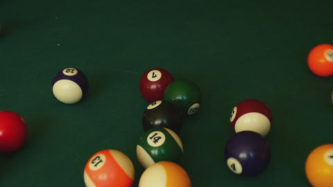 Billiard Balls Snooker stock footage