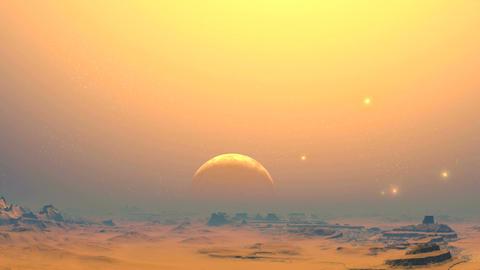 The desert planet of aliens Animation
