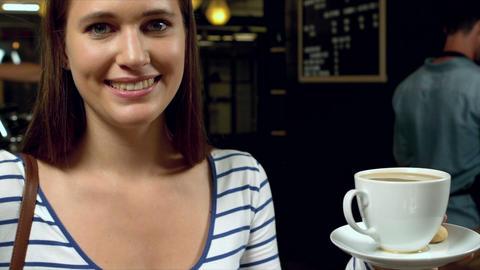 Portrait of smiling woman Live Action