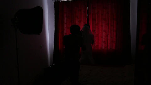 Photographer shoots the bride Footage
