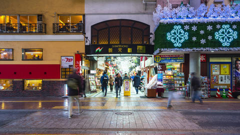 Timelapse video of Shintencho shopping street in Fukuoka, Japan, time lapse 4K Live Action