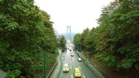 Lions Gate Bridge or First Narrows Bridge Footage