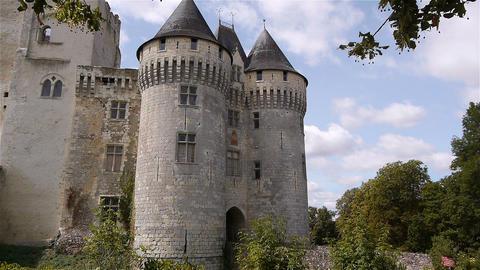 NOGENT-LE-ROTROU, FR - AUGUST 23. 2018: Château des comtes du Perche, exterior Live Action