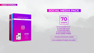 Social Media Pack Plantilla de After Effects