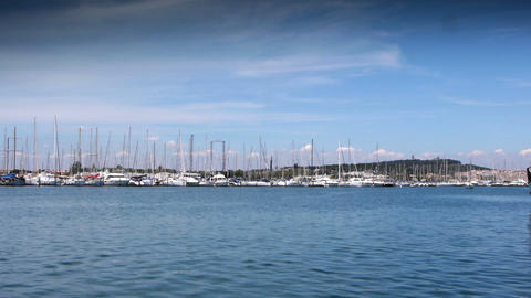 Luxury harbour at south France Footage