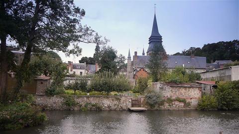 Urbanscape of Broglie, Normandy France Footage