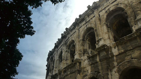 Ancient Colosseum, Nimes France Footage