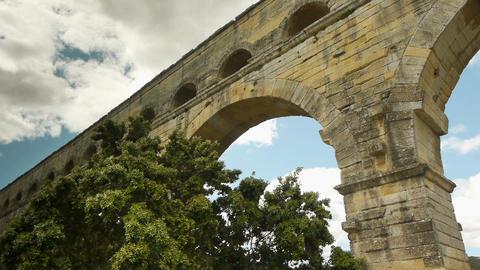 Pont du Gard in France Live Action