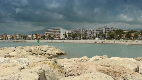 Coastline of Cote D'Azur France Live Action