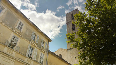 Historic buildings of Grasse, Cote D'Azur France Live Action