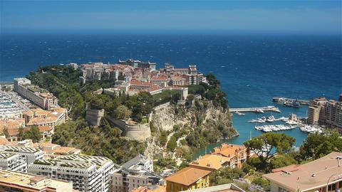 Monaco bay at Cote D'Azur France Live Action