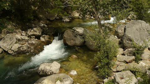 Wild river at Cote D'Azur, South France Live Action