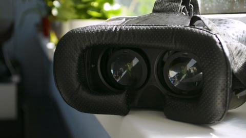 3D 360 VR virtual reality glasses goggles playing games, watching cinema movie Footage