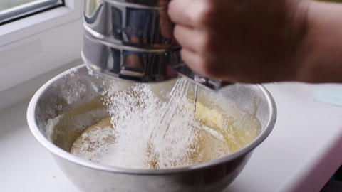 Woman preparing dough for homemade Apple pie Footage