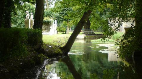 Romantic Canon Castle garden, France Live Action