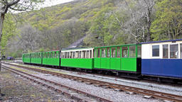 LLanberis, Snowdonia / Wales - May 03 2018 : Steam train standing at The Footage