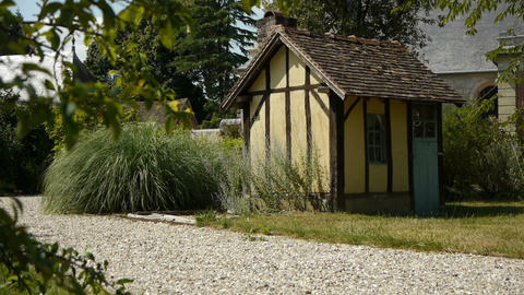 Timbered house and botanical garden Footage