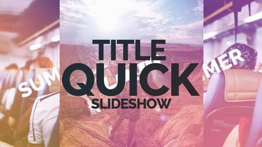 Title Quick Slideshow Premiere Pro Template
