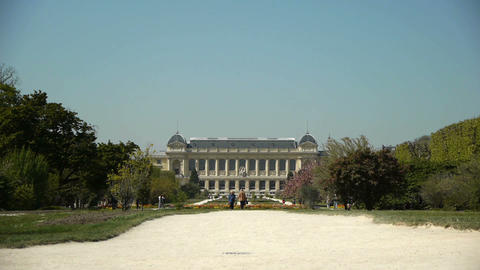 Jardin des Plantes and museum of evolution. Paris, France Stock Video Footage