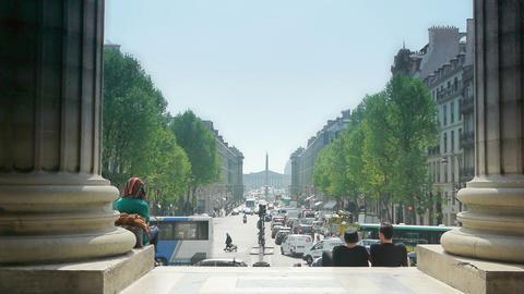 PARIS, FRANCE-APRIL 24, 2015: view on Place de Concorde Footage