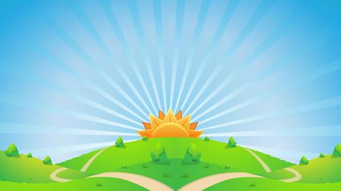Sunshine Scenery Video Motion Graphics Animation Background Loop HD Animation