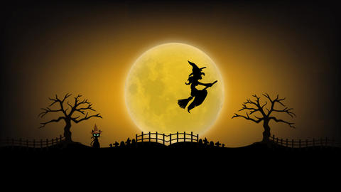 Halloween Haunted Spooky Video Motion Graphics Animation…, Stock Animation