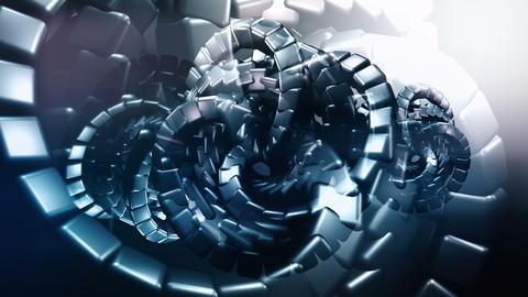 Dark background with organic metallic shapes Animation